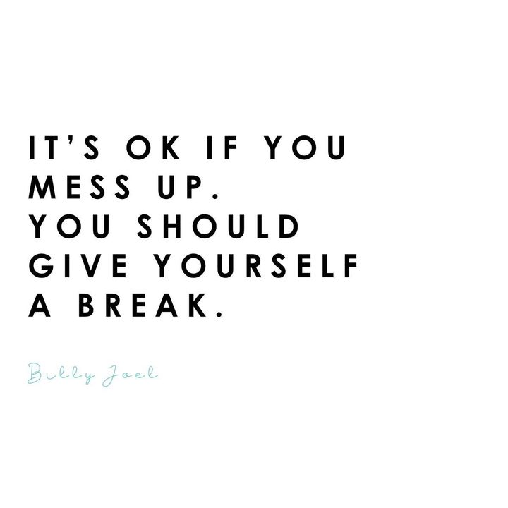 Building on yesterday's post that mistakes are ok. Remember to stop being so harsh on yourself. #selflove #mentallwellne...