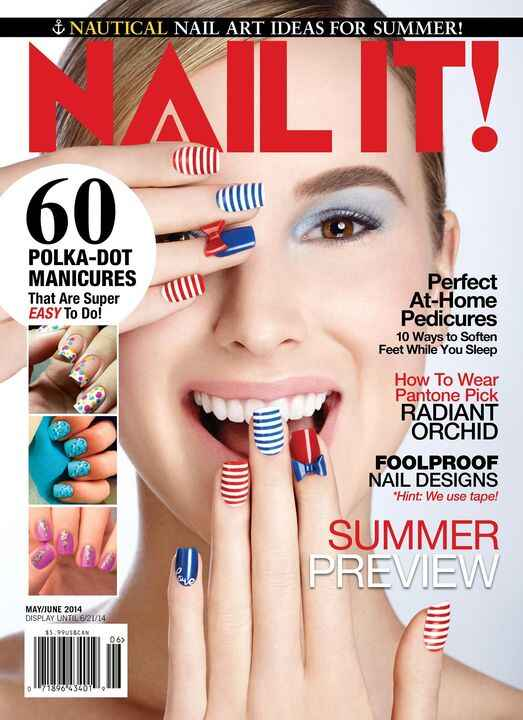 On sale now! The Nail It Summer Preview features nautical nail art ideas just in time for summer and 60 super easy polka...