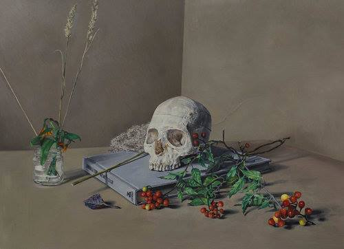 Nick Bierk 'Memento Mori (for my father)' 2016, oil on panel - On view at No Foundation, Toronto. June 8 - July 2, 2017.