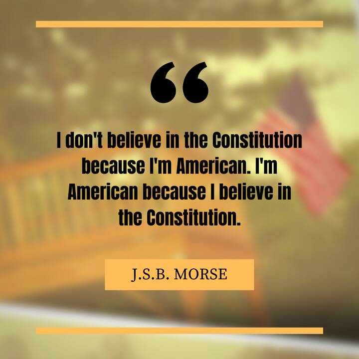 """""""I don't believe in the Constitution because I'm American. I'm American because I believe in the Constitution.Author: Da..."""