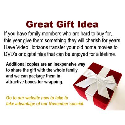 Can't seem to find the perfect gift? Check out our online holiday special ----> http://www.videohorizonsmedia.com